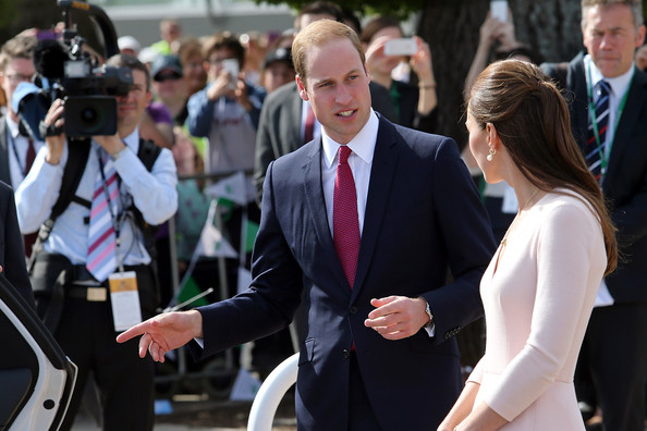 Prince William, Duke of Cambridge and Catherine, Duchess of Cambridge leave the Playford Civic Centre on April 23, 2014 in Adelaide, Australia. The Duke and Duchess of Cambridge are on a three-week tour of Australia and New Zealand, the first official trip overseas with their son, Prince George of Cambridge.