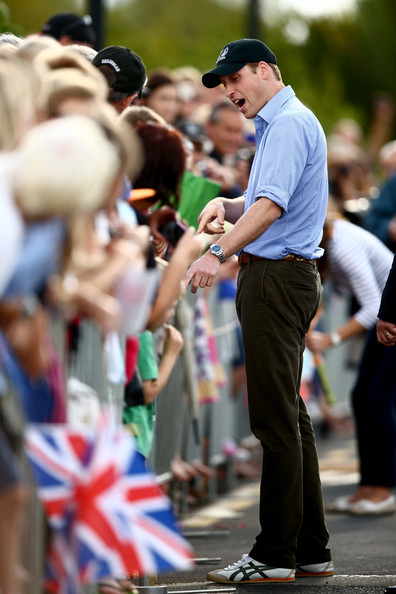 Prince William, Duke of Cambridge meets with the public at the Westpark Marina on April 11, 2014 in Auckland, New Zealand. The Duke and Duchess of Cambridge are on a three-week tour of Australia and New Zealand, the first official trip overseas with their son, Prince George of Cambridge.