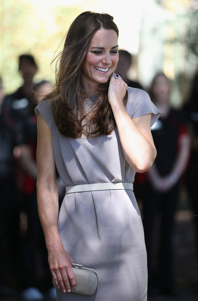 Catherine, Duchess of Cambridge visits an indigenous Training Academy on April 22, 2014 in Ayers Rock, Australia. The Duke and Duchess of Cambridge are on a three-week tour of Australia and New Zealand, the first official trip overseas with their son, Prince George of Cambridge.