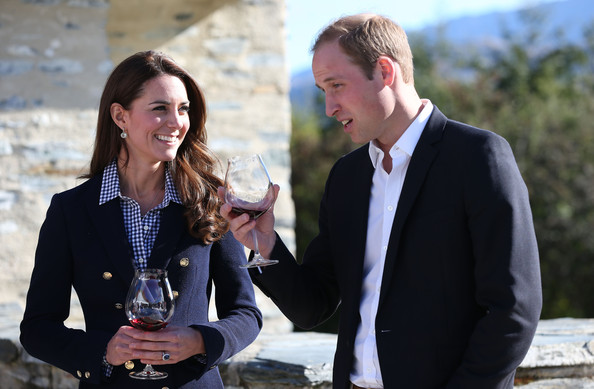 Catherine Duchess of Cambridge and Prince William, Duke of Cambridge visit the Amisfield Winery on April 13, 2014 in Queenstown, New Zealand. The Duke and Duchess of Cambridge are on a three-week tour of Australia and New Zealand, the first official trip overseas with their son, Prince George of Cambridge.