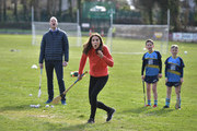Prince William, Duke of Cambridge and Catherine, Duchess of Cambridge visit Salthill GAA club and participate in some hurling and gaelic football on the third day of their first official visit to Ireland on March 5, 2020 in Galway, Ireland.
