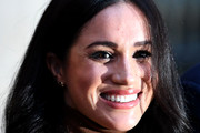 Meghan, Duchess of Sussex reacts after her visit with Prince Harry, Duke of Sussex to Canada House in thanks for the warm Canadian hospitality and support they received during their recent stay in Canada, on January 7, 2020 in London, England.