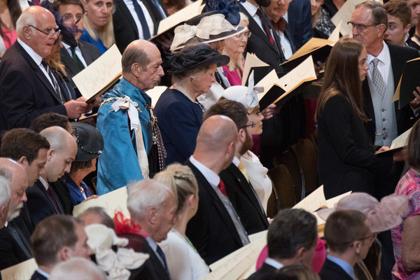 HM Queen Attends A Service Marking The Most Distinguished Order Of St George [people,event,crowd,community,audience,gesture,prince edward,elizabeth ii,queen,service,commemoration,service,dedication,attends a service marking the most distinguished order of st george,hm,anniversary]