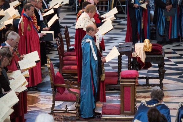 HM Queen Attends A Service Marking The Most Distinguished Order Of St George [event,cope,prince edward,elizabeth ii,queen,service,commemoration,service,dedication,attends a service marking the most distinguished order of st george,hm,anniversary]