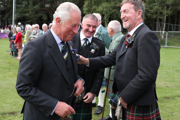 The Duke of Rothesay Stuart Archibald The Duke Of Rothesay Attends The Ballater Highland Games