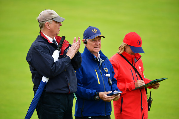 147th Open Championship - Round Two [recreation,gesture,andrew,two,course,carnoustie,scotland,carnoustie golf club,the duke of york,open championship,round]