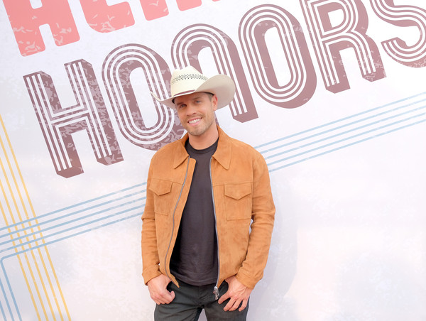 12th Annual ACM Honors - Red Carpet [cool,font,outerwear,headgear,style,hat,jeans,t-shirt,acm honors - red carpet,acm honors,ryman auditorium,nashville,tennessee,dustin lynch]