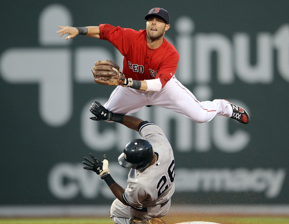 dustin pedroia pictures new york yankees v boston red