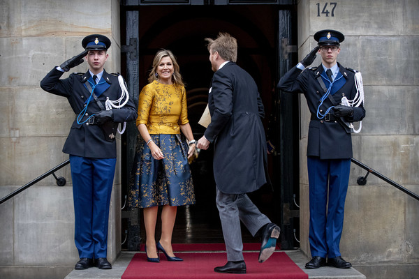 Dutch Royal Family Attends New Year Reception For Diplomatic Corps At Royal Palace In Amsterdam