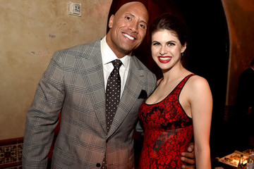 Dwayne Johnson Alexandra Daddario Premiere of Warner Bros. Pictures' 'San Andreas' - After Party