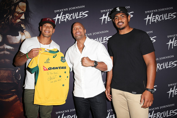 Breaking the fourth wall... Dwayne+Johnson+Israel+Folau+Hercules+Screening+scVzFbk58ADl
