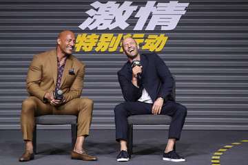 Dwayne Johnson Jason Statham 'Fast And Furious Presents: Hobbs and Shaw' - Fans Meeting And Press Conference