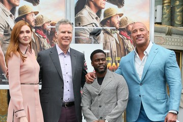 Dwayne Johnson Karen Gillan Kevin Hart Hand And Footprint Ceremony At the TCL Chinese Theatre IMAX