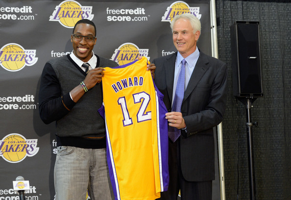 Dwight Howard and Mitch Kupchak - Los Angeles Lakers Introduce Dwight Howard