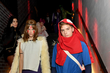 Dylan Sprouse Barbara Palvin Heidi Klum's 20th Annual Halloween Party - Inside