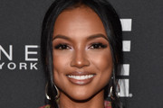 Karrueche Tran attends as E!, ELLE & IMG celebrate the Kick-Off To NYFW: The Shows at The Pool on September 5, 2018 in New York City.