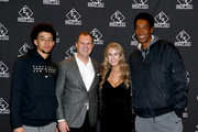 (L-R) Scottie Pippen Jr., Brian Parker, Jillian.Cardarelli and Scottie Pippen attend the grand opening of E3 Chophouse Nashville on November 20, 2019 in Nashville, Tennessee.