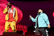 (L-R) 2 Chainz and DJ Khaled perform onstage during the EA Sports Bowl at Bud Light Super Bowl Music Fest on January 30, 2020 in Miami, Florida.