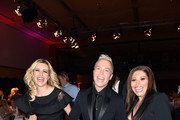 Verena Kerth, Julian David and Patricia Blanco during the 'EAGLES Fashion Dinner' at Nockherberg on April 6, 2016 in Munich, Germany.