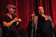 Producer Jon Kilik and actor Chazz Palminteri speak onstage at the 'A BRONX TALE' Screening at Virginia Theatre during EBERTFEST 2015 on April 17, 2015 in Champaign, Illinois.