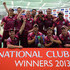 Wimbledon celebrate winning the Cup after wiining the Bowl Off after the game was abandond because of rain during the Final match between Wimbledon and Ormskirk in the ECB National Club T20 Finals day at The Kia Oval on September 13, 2013 in London, England.