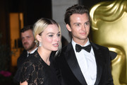 Margot Robbie and guest attend the EE British Academy Film Awards 2020 After Party at The Grosvenor House Hotel on February 02, 2020 in London, England.