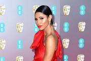 Vick Hope attends the EE British Academy Film Awards 2020 at Royal Albert Hall on February 02, 2020 in London, England.