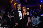 Tony Thomas and Marlo Thomas attend the 34th Annual Ellis Island Medals Of Honor Ceremony hosted by EIHS at Ellis Island on May 11, 2019 in New York City.