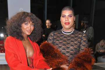 EJ Johnson Laquan Smith - Front Row - February 2019 - New York Fashion Week: The Shows