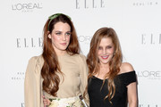 Riley Keough (L) and Lisa Marie Presley attend ELLE's 24th Annual Women in Hollywood Celebration at Four Seasons Hotel Los Angeles at Beverly Hills on October 16, 2017 in Los Angeles, California.