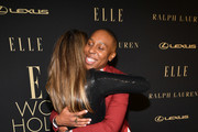 (L-R) ELLE Editor-in-Chief Nina Garcia and Lena Waithe attend ELLE's 26th Annual Women In Hollywood Celebration Presented By Ralph Lauren And Lexus at The Four Seasons Hotel Los Angeles on October 14, 2019 in Beverly Hills, California.