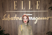 Mia Moretti attends ELLE & Ferragamo Hollywood Rising Celebration on October 11, 2019 in West Hollywood, California.