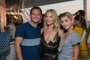 Brett Nortman, Ali Larter and Charlotte Bickley attend the HANEY's Fifth Year Anniversary Celebration on August 24, 2018 in Sag Harbor, New York.