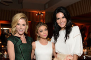(L-R) Actresses Julie Bowen, Sarah Hyland and Angie Harmon attend ELLE's Annual Women in Television Celebration on January 13, 2015 at Sunset Tower in West Hollywood, California. Presented by Hearts on Fire and Olay.