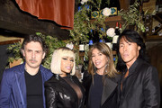 Nicki Minaj and Stephen Gan attend ELLE x Stuart Weitzman celebration of Giovanni Morelli's debut collection for Stuart Weitzman hosted by Nina Garcia on May 16, 2018 in New York City.