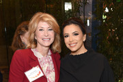 "(L-R) Wendy Davis and Eva Longoria attend EMILY's List Brunch and Panel Discussion ""Defining Women"" at Four Seasons Hotel Los Angeles at Beverly Hills on February 04, 2020 in Los Angeles, California."