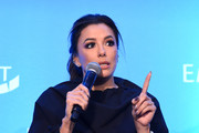"Eva Longoria speaks onstage during EMILY's List Brunch and Panel Discussion ""Defining Women"" at Four Seasons Hotel Los Angeles at Beverly Hills on February 04, 2020 in Los Angeles, California."