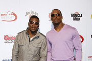Redskins' Clinton Portis and Fred Davis attends ESPN the Magazine's 7th Annual Pre-Draft Party at Espace on April 21, 2010 in New York City.