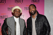 NFL players Reggie Bush (L) and Donte Stallworth attend ESPN the Party at WestWorld of Scottsdale on January 30, 2015 in Scottsdale, Arizona.
