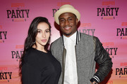 Lilit Avagyan (L) and NFL player Reggie Bush attend ESPN the Party at WestWorld of Scottsdale on January 30, 2015 in Scottsdale, Arizona.