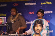 Music artists Biz Markie (L) and DJ Cool V perform at EW & CNN The Eighties Trivia Event at The Django at the Roxy Hotel on March 29, 2016 in New York City.