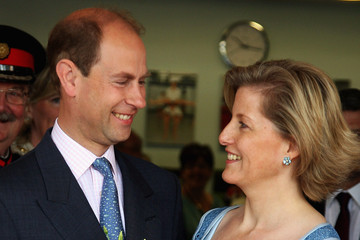 Prince Edward The Earl And Countess of Wessex Visit Whitton School