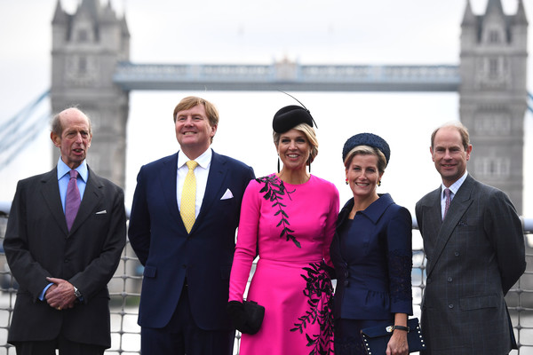 State Visit Of The King And Queen Of The Netherlands - Day Two [event,tourism,white-collar worker,suit,businessperson,pope,formal wear,government,official,willem-alexander,prince edward,queen,beatrix,claus,duke,l-r,netherlands,the king and queen of the netherlands,state visit]