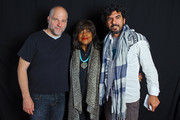 Chen Alon, Chaz Ebert, and Sulaiman Khatib pose for a portrait at the 2016 Ebertfest on April 15, 2016 in Champaign, Illinois.