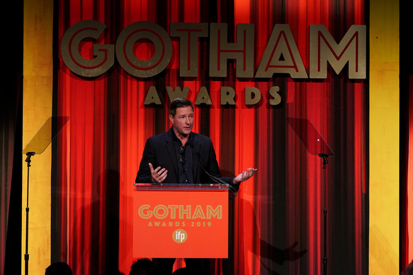 IFP's 29th Annual Gotham Independent Film Awards - Show [red,speech,public speaking,event,comedy club,font,curtain,stage,theater curtain,talent show,ed burns,new york city,cipriani wall street,ifp,29th annual gotham independent film awards - show,29th annual gotham independent film awards]