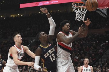 Ed Davis New Orleans Pelicans vs. Portland Trail Blazers - Game One