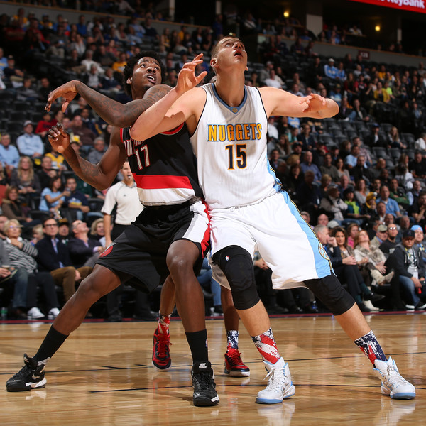 Portland Trail Blazers Live Stream: Ed Davis And Nikola Jokic Photos Photos