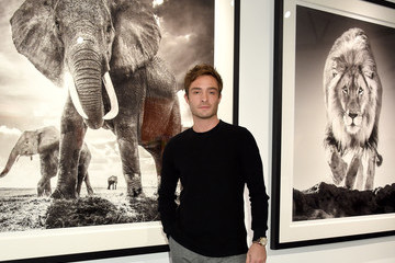 Ed Westwick The VIP Opening Of Maddox Gallery With Inaugural Exhibition 'Best Of British'