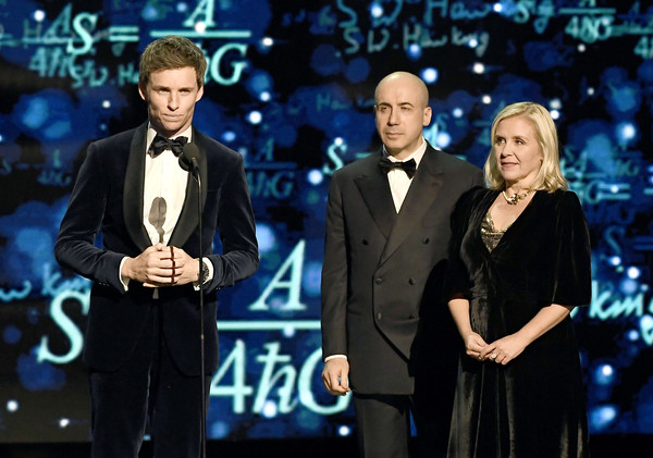2019 Breakthrough Prize - Inside [suit,event,performance,tuxedo,music artist,formal wear,television program,award ceremony,television presenter,talent show,yuri milner,eddie redmayne,lucy hawking,breakthrough prize,mountain view,california,nasa ames research center]