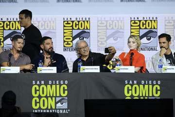 Edward James Olmos Clayton Cardenas 2019 Comic-Con International - 'Mayans M.C.' Discussion And Q/A